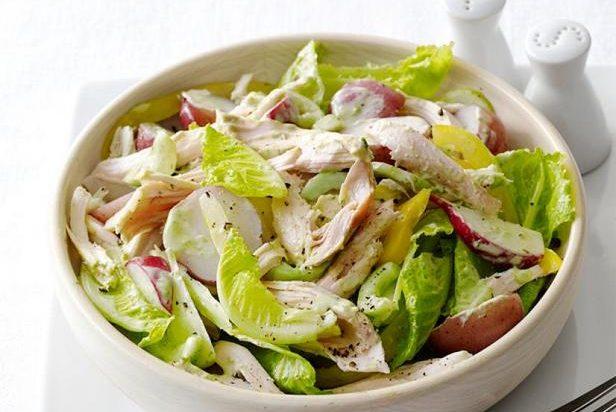 Tovuqli va kartoshkali salat