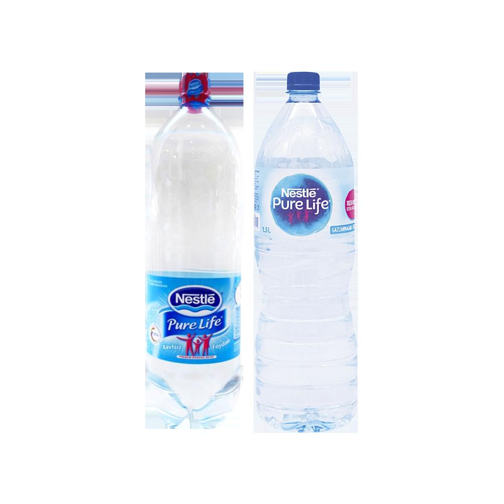 Nestle gazlangan/ gazlanmagan suv 1,5 l