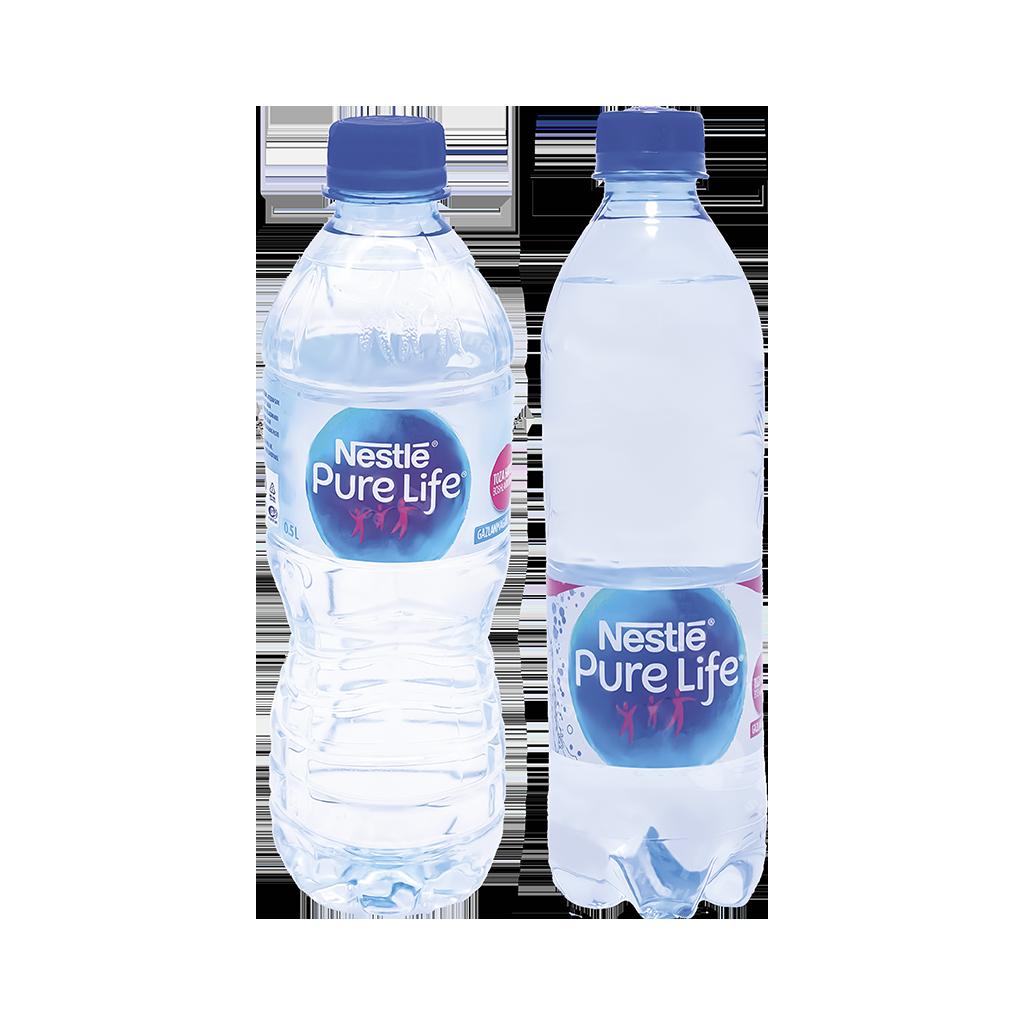 Nestle gazlangan/gazlanmagan suv 0,5 l