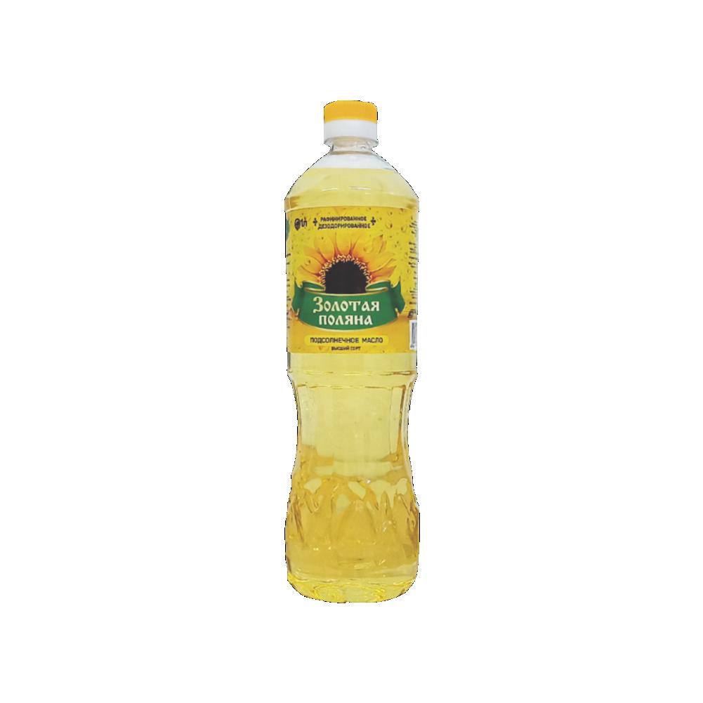 Подсолнечное масло Золотая поляна 1 л